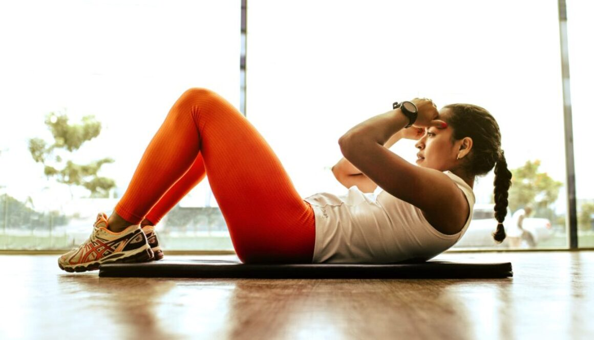 Young Woman doing Situps