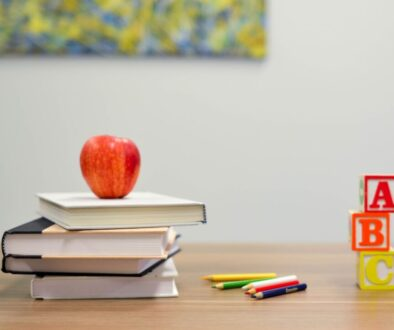 apple books pencils and other back to school supplies