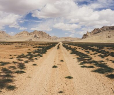 a rough road through the desert